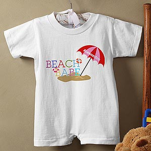 Personalization Mall Personalized Baby Rompers - Beach Babe at Sears.com