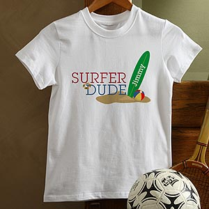 Personalization Mall Personalized Kids Beach T-Shirt - Surfer Dude at Sears.com