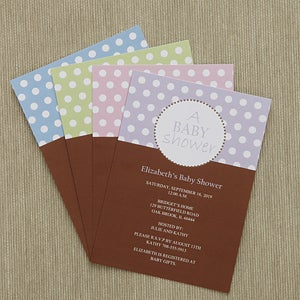 Personalized baby shower invitations polka dots personalized baby shower invitations polka dots 8286 filmwisefo