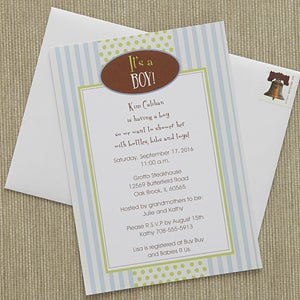 Personalized Baby Shower Invitations - It's A Boy - 8294