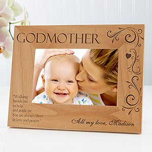 Personalized godparent picture frames godfather godmother 4x6 godparent personalized photo frame 4 x 6 on sale today negle Images