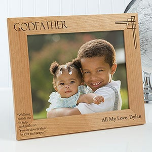 Personalized godparent picture frames godfather godmother godparent personalized photo frame 8 x 10 on sale today negle Images