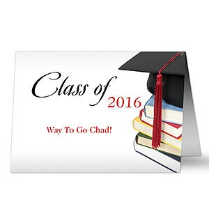 Personalized Graduation Greeting Cards - Congratulations - 8341