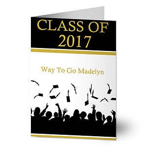 Personalized Graduation Cards - Hats Are Off - 8343