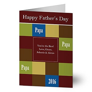 Personalized Father's Day Greeting Cards - 8354
