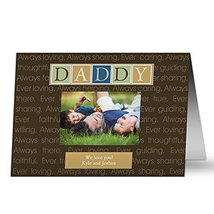Personalized Greeting Cards For Men - Just For Him - 8391