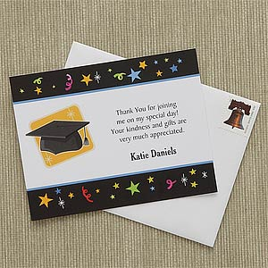 personalized graduation thank you notes lets celebrate