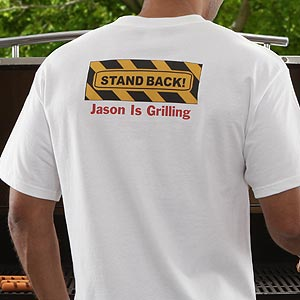 Personalization Mall Stand Back Personalized BBQ Grill T-Shirt at Sears.com
