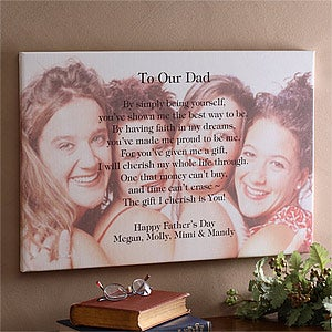 Personalized Photo Canvas Art With Poetic Sentiments For Him - 8431