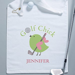 Personalized Ladies Golf Towel - Golf Chick - 8440
