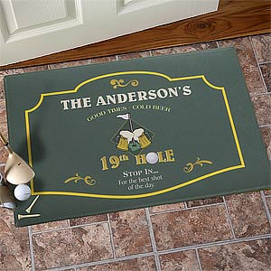 Personalized Golf Doormat - 19th Hole - 8441