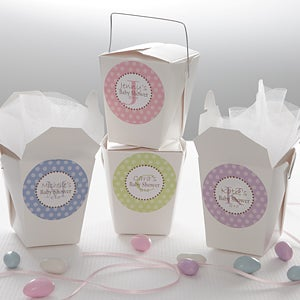 Baby Shower Favor Personalized Stickers   Polka Dot   8446