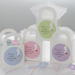Personalized Baby Shower Gift Stickers - Baby Bump - 8449