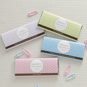 Personalized Candy Bar Wrappers - Polka Dots - 8474