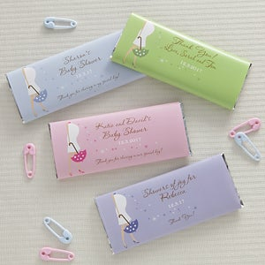 Personalized Baby Shower Candy Bar Favor Wrappers - 8476