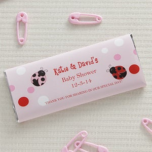 Personalized Candy Bar Wrappers - Ladybug Love - 8477