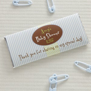 Personalized Baby Shower Candy Bar Wrappers   Itu0027s A Boy   8480