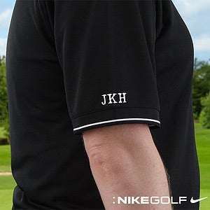 Personalized Golf Polo Shirts - Nike Dri-FIT - Black - 8494