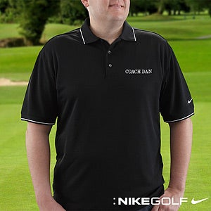 Personalized Golf Polo Shirts Nike Dri FIT Black 8494