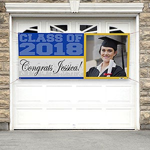 photo personalized graduation banners class of