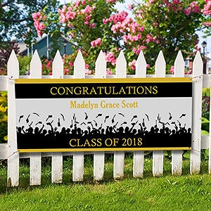 personalized graduation banners congratulations
