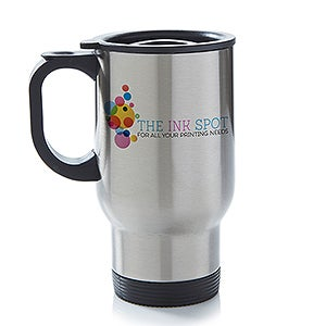 Personalized Corporate Custom Logo Travel Mug - 8525