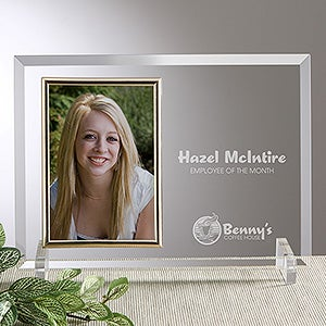 Engraved Glass Picture Frame With Your Business Logo - 8528