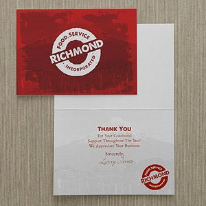 Personalized Corporate Custom Logo Stationery Cards - 8536