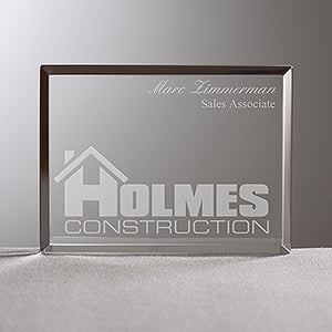 Custom Award Plaque With Personalized Business Logo - 8540