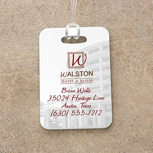Personalized Corporate Custom Logo Luggage Tag - 8542