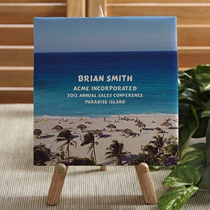 Personalized Corporate Custom Logo Photo Canvas - 8550