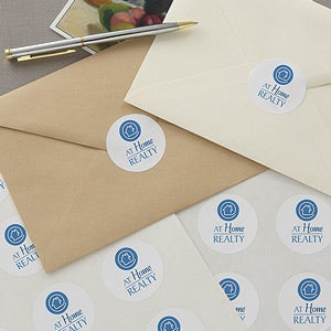 Personalized Corporate Custom Logo Stationery Stickers - 8559