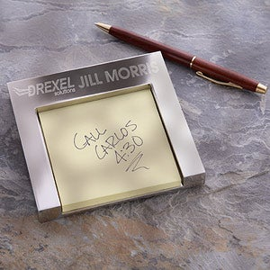 Personalized Corporate Engraved Logo Note Holder - 8562