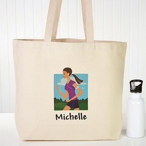 Workout Girl Personalized Tote Bag - 8565