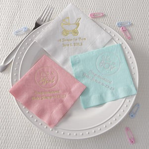 Personalization Mall Personalized Baby Shower Napkins - Beverage Napkins at Sears.com