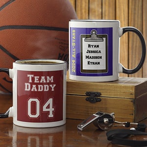 Personalized Sports Coffee Mug - Team Daddy - 8580