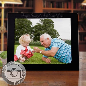 Personalized picture frames for men personalization mall for Engraved digital photo frame