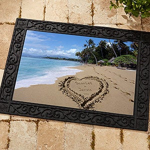 Personalized Door Mats Sandy Beach Tropical Island