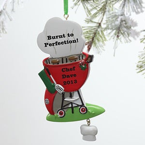 Personalized Christmas Ornaments - BBQ Grill - 8623