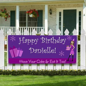 Birthday Girls© Personalized Banner - 8638