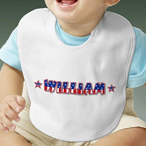 Personalization Mall Patriotic Personalized Baby Bibs - Stars & Stripes at Sears.com