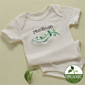 Personalization Mall Personalized Organic Baby Bodysuit - Little Tree Hugger at Sears.com