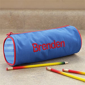 Personalized Backpack, Lunch Box & Pencil Case Set - Blue - 8676