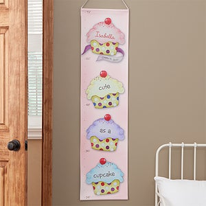 Personalized Girls Growth Chart - Cupcakes - 8678