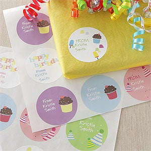 Personalized Birthday Gift Stickers - Birthday Fun