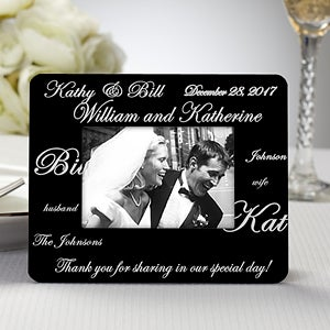 Personalized Wedding Favor Picture Frame - Mr & Mrs - 8690