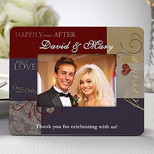 Personalized Wedding Favor Picture Frames - Love Is A Promise - 8691