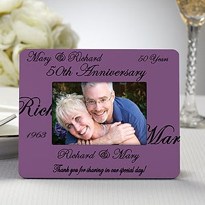 Personalized Picture Frame Anniversary Party Favors - 8693