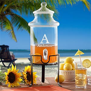 Personalized Beverage Dispenser with Stand - 8697