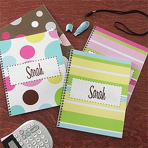 Personalized Notebooks for Girls - On The Go - Set of Two - 8708